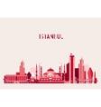 Istanbul Turkey Skyline Flat design Trendy vector image
