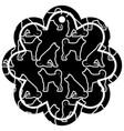 label flower chinese pattern dog zodiac calendar vector image