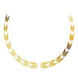 laurel wreath gold victory decoration leaves vector image vector image