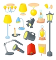 Lighting icons set cartoon style vector image vector image