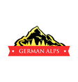 logo of german alps vector image vector image