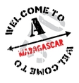 Madagascar stamp rubber grunge vector image vector image