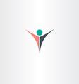 man logo boss winner icon symbol vector image vector image