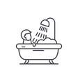 mens bathroom line icon concept mens bathroom vector image vector image
