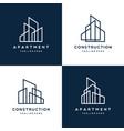 modern logo template real estate vector image vector image