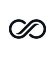 monochrome curvy infinity symbol vector image