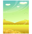 Mountains wheat field vector image