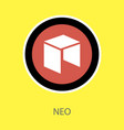 neo icon isolated on white cryptocurrency vector image