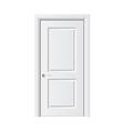 object white door vector image vector image