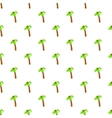 Palm tree with coconuts pattern cartoon style vector image