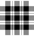 pixel check fabric texture seamless black white vector image vector image