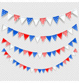 presidents day color flags set vector image