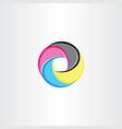 print logo symbol icon cmyk color vector image vector image