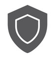 protection glyph icon safety and security shield vector image