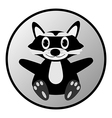Raccoon button vector image vector image