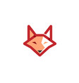 red fox head logo symbol logo vector image