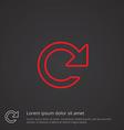 reload outline symbol red on dark background logo vector image