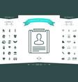 resume line icon vector image