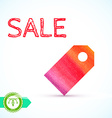 Sale Watercolor Price Tag vector image vector image