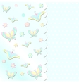 scrabbook card with butterflies vector image vector image
