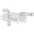 seconds word cloud concept vector image vector image