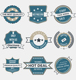 Set of business labels and ribbons in vintage vector image vector image