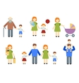 Set of flat people vector image