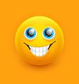 smile emoji face cute eyes emoticon symbol vector image vector image