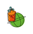 sphere browser with commercial hanging vector image vector image