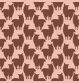 trendy cartoon alpaca llamas silhouette seamless vector image