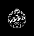 Vintage summer logo design template