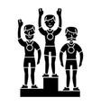 winner podium sport team - first place - olympics vector image