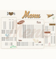 with nice menu in retro style vector image