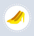 women shoes shopping icon fashion shop logo flat vector image