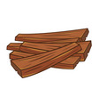 wood planks isolated vector image