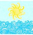 Summer background sea sun waves vector image