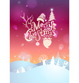 Merry Christmas sunset background vector image