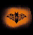 trick or treat scary bat with lettering vector image