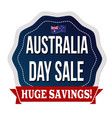 australia day sale label or sticker vector image