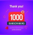 1000 followers post 1k celebration one vector image vector image