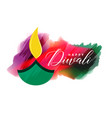 artistic watercolor diwali background design vector image