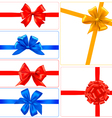 big set color gift bows with ribbons vector image