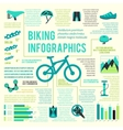Bike icons infographic vector image vector image