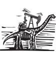 brontosaurus oil well pump vector image vector image