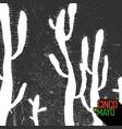 cactus background cinco de mayo holiday card vector image vector image