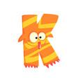 cartoon character monster letter k vector image vector image