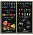 chalk board invitation for birthday children vector image vector image