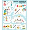 Childrens Birthday Infografics vector image vector image