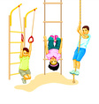 Climbing kids vector image vector image