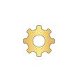 cog wheel computer symbol vector image vector image